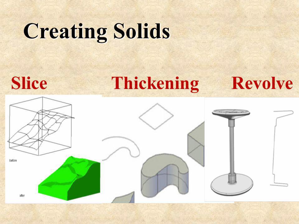 Slice Thickening Revolve Creating Solids