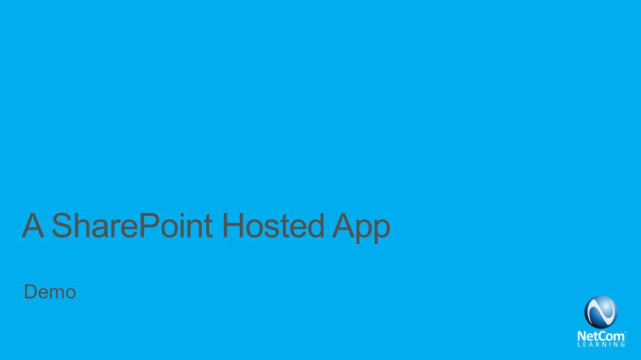 A SharePoint Hosted App