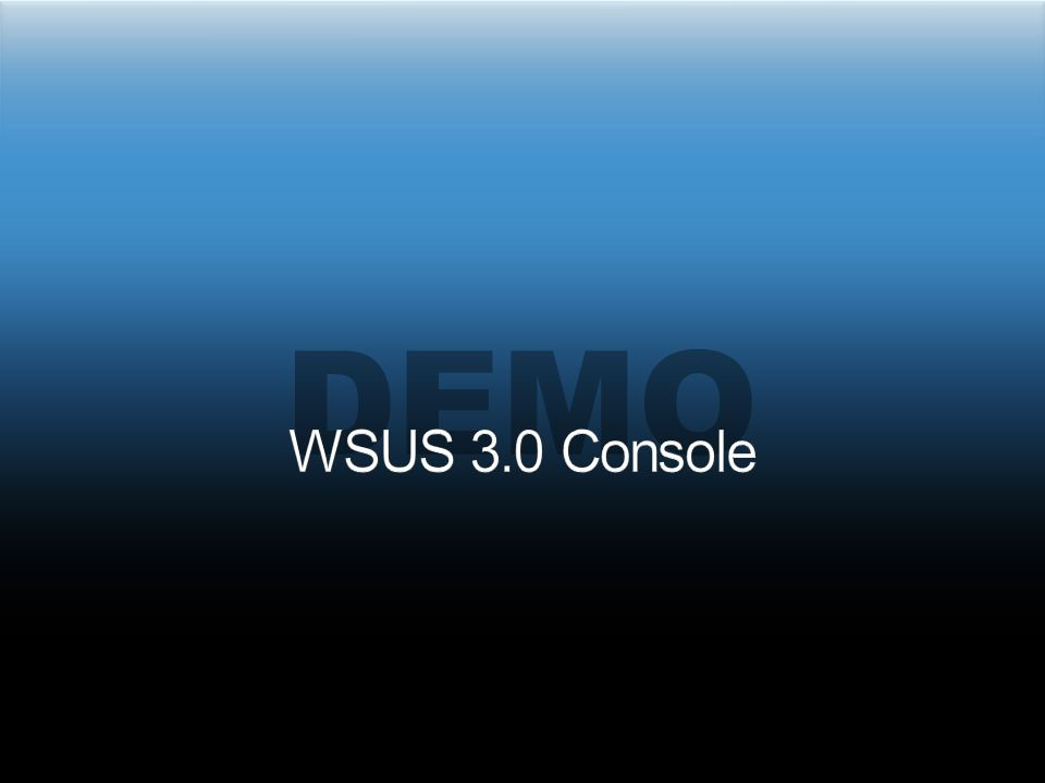 From SUS1 Not directly supported Upgrading a single server In-place upgrade: WSUS2->WSUS3 on a single server Migration upgrade: WSUS2->WSUS3 on different servers Upgrading a server hierarchy Connected servers Disconnected servers