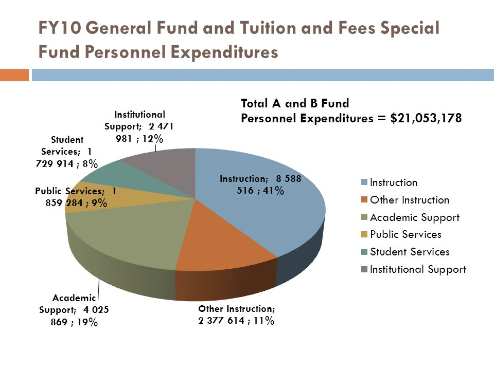 FY10 General Fund and Tuition and Fees Special Fund Personnel Expenditures