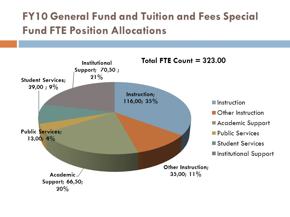 FY10 General Fund and Tuition and Fees Special Fund FTE Position Allocations