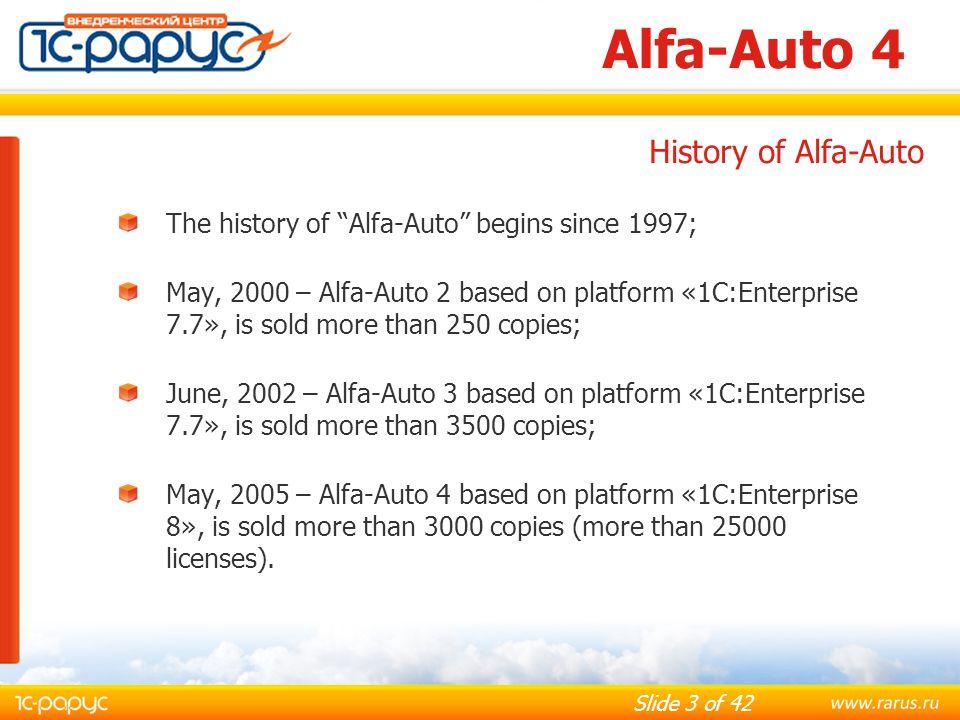 Slide 14 of 42 Alfa-Auto 4 Suppliers Orders based on Buyers Orders