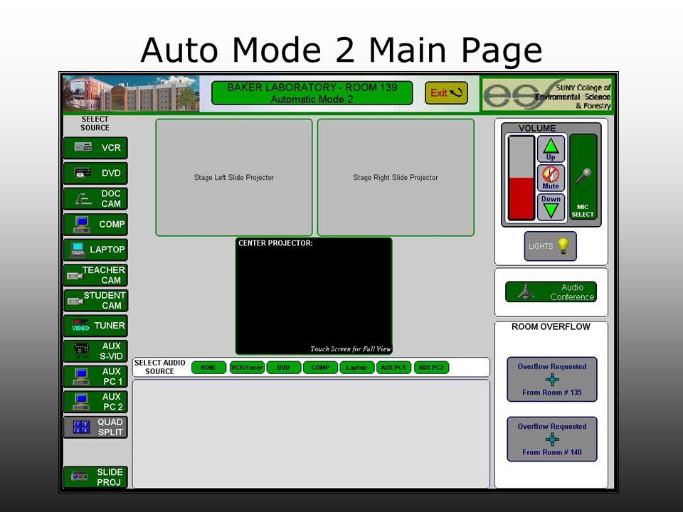 Auto Mode 2 Main Page