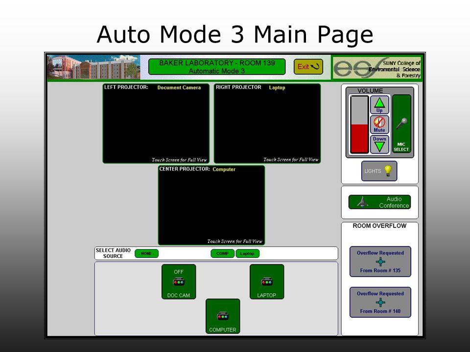Auto Mode 3 Main Page