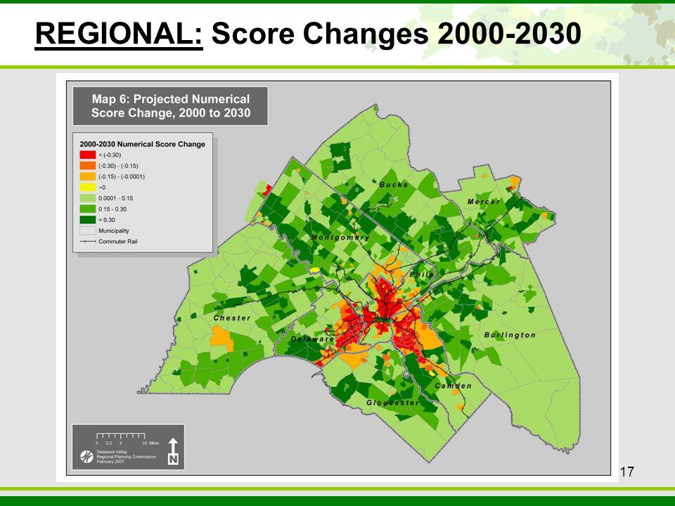 17 REGIONAL: Score Changes 2000-2030 17