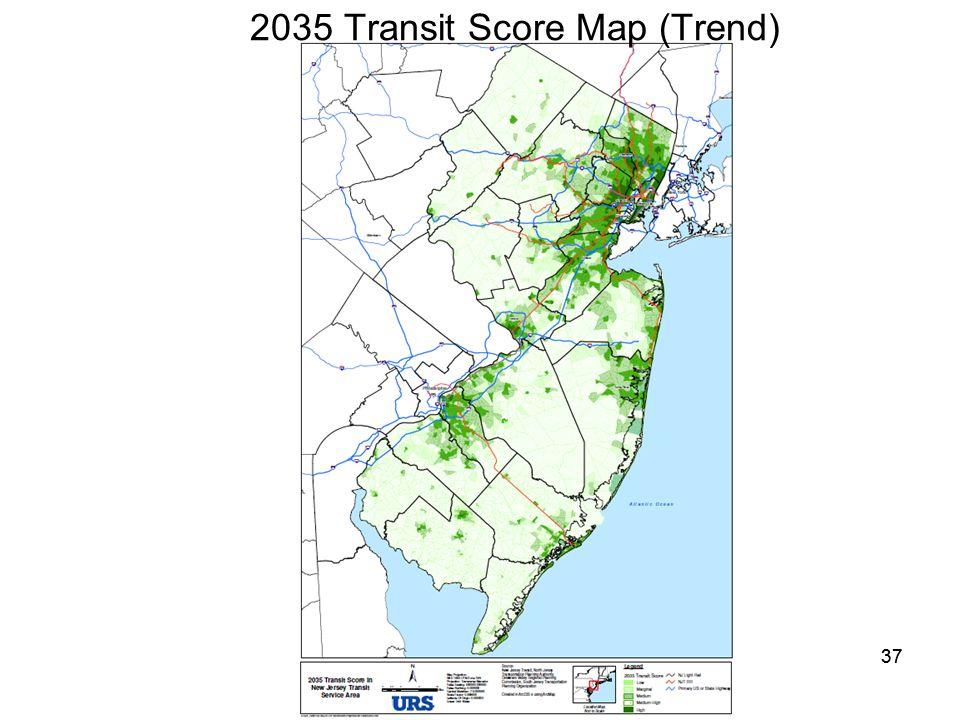 37 2035 Transit Score Map (Trend)
