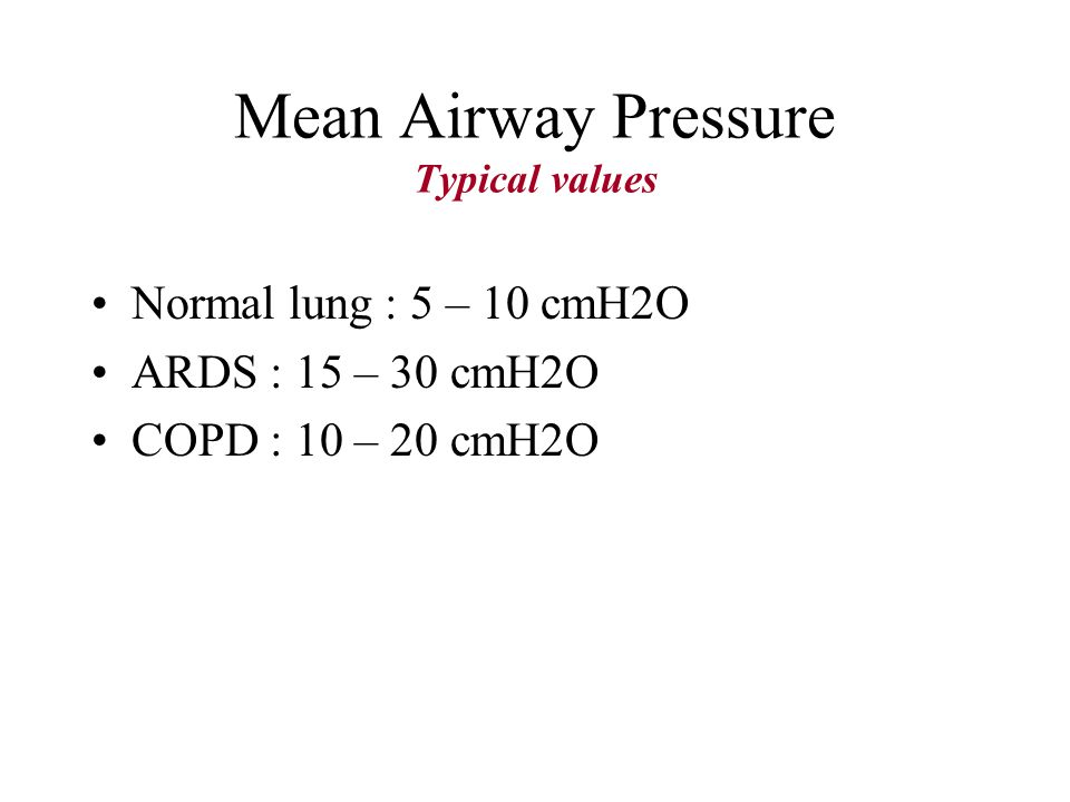 Mean Airway Pressure 14 cmH2O