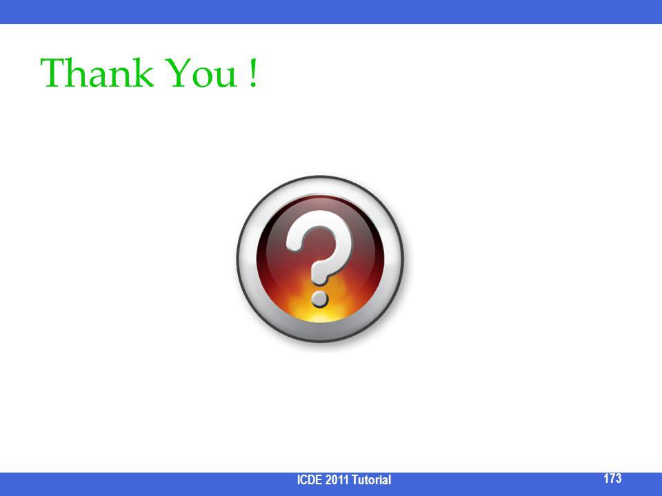 Thank You ! ICDE 2011 Tutorial 173