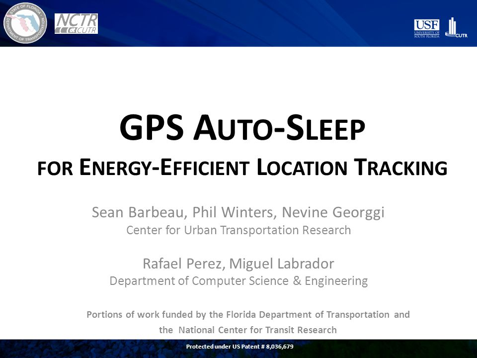 P ROBLEM Past vehicle-based GPS tracking give low- resolution view of daily travel behavior Are these GPS fixes: – Points-of-interest.