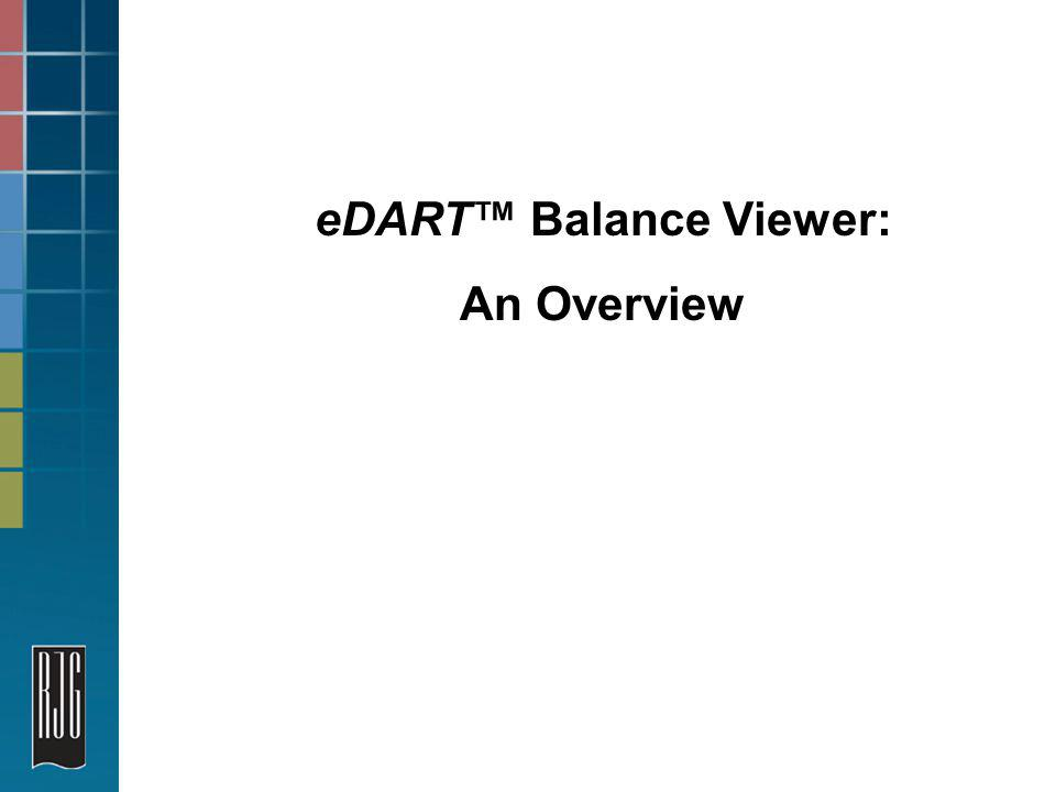 eDART Balance Viewer: An Overview
