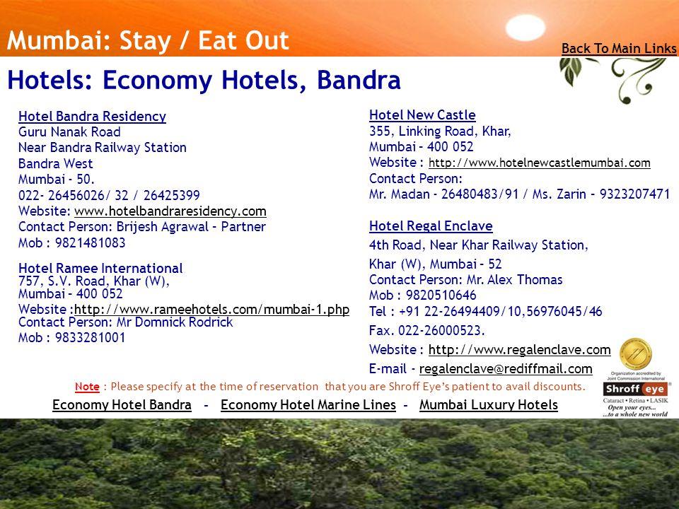 Hotel Bandra Residency Guru Nanak Road Near Bandra Railway Station Bandra West Mumbai - 50.