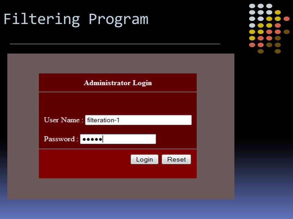 Filtering Program