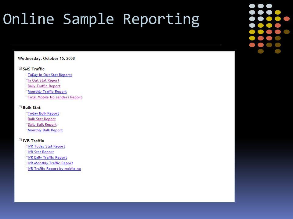 Online Sample Reporting