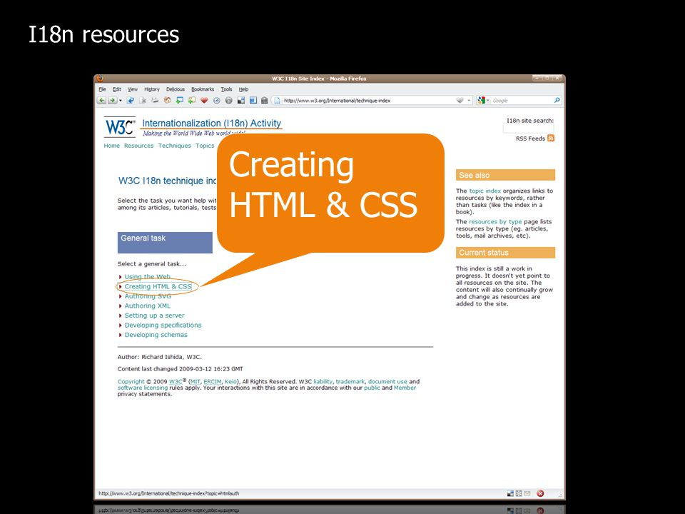Creating HTML & CSS I18n resources