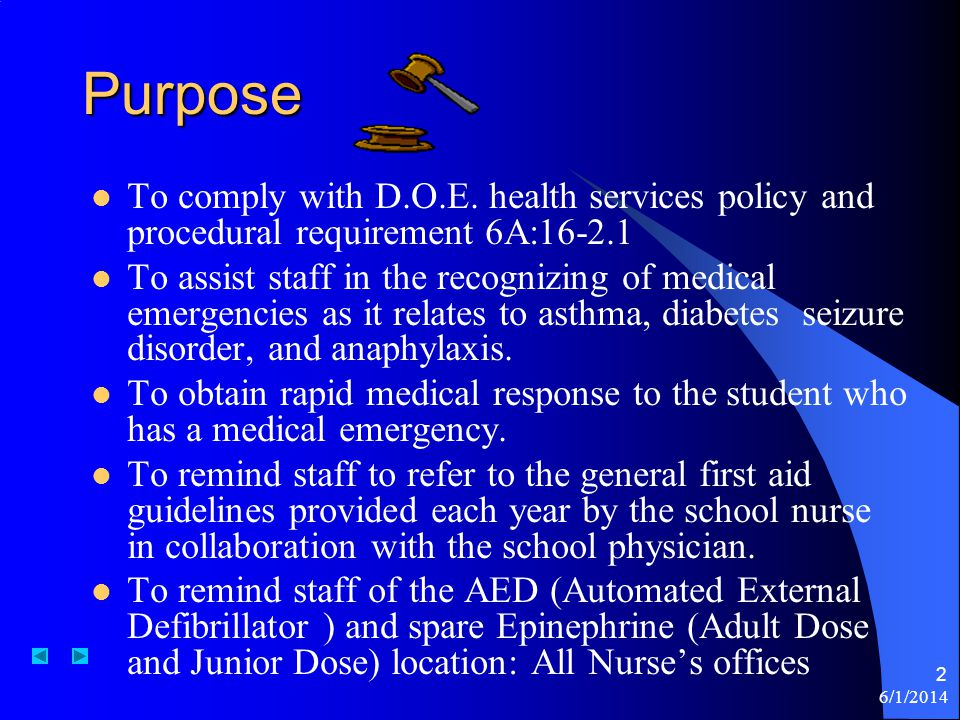 6/1/2014 2 Purpose To comply with D.O.E.