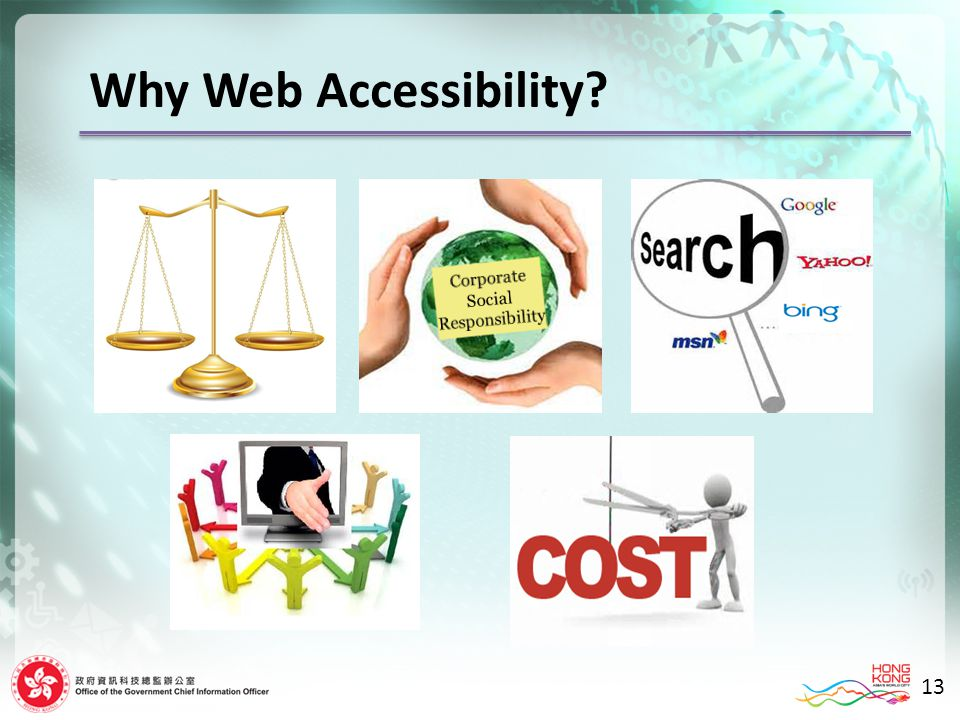 Why Web Accessibility 13