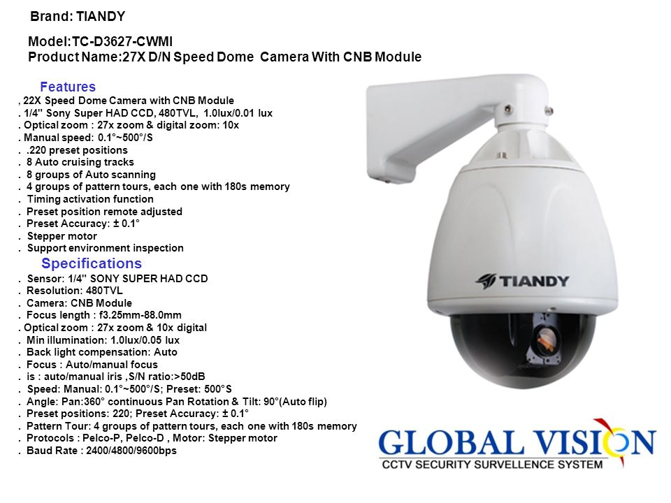 Brand: Hik vision Model Code:DS-2CD7922PF(NF)-E Features:.