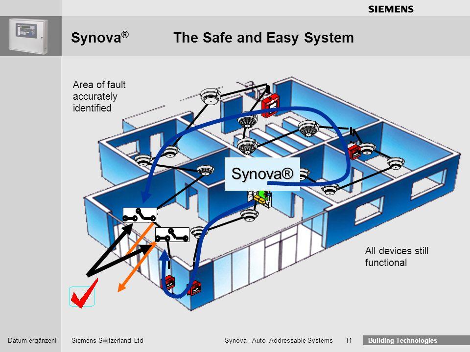 Building Technologies Synova auto addressable system