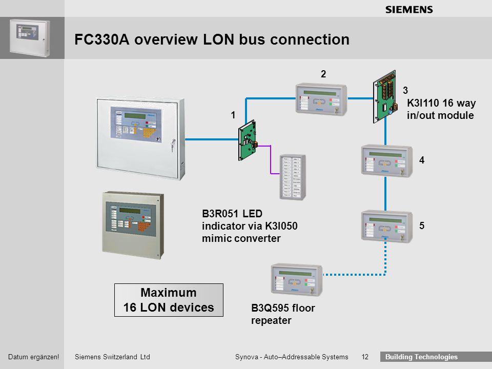 Siemens Switzerland Ltd Building Technologies Datum ergänzen! Synova - Auto–Addressable Systems 11 Synova ® The Safe and Easy System Synova® All devic
