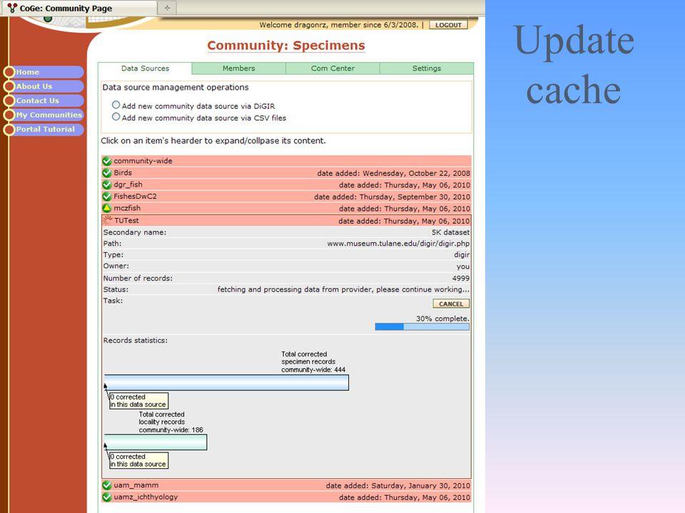 Update cache
