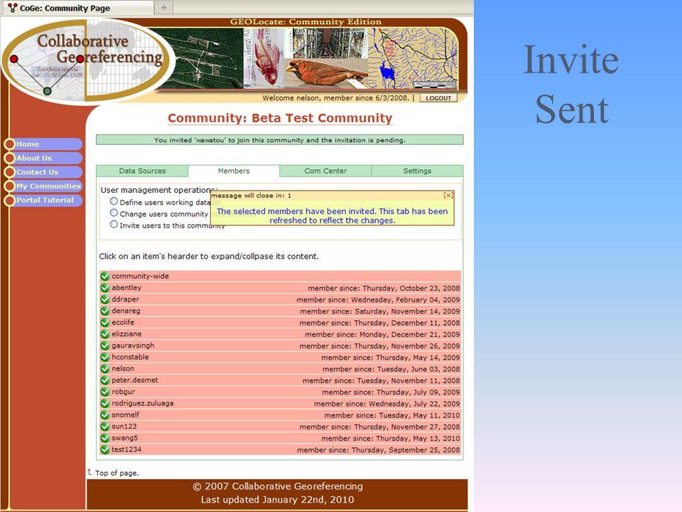 Invite Sent