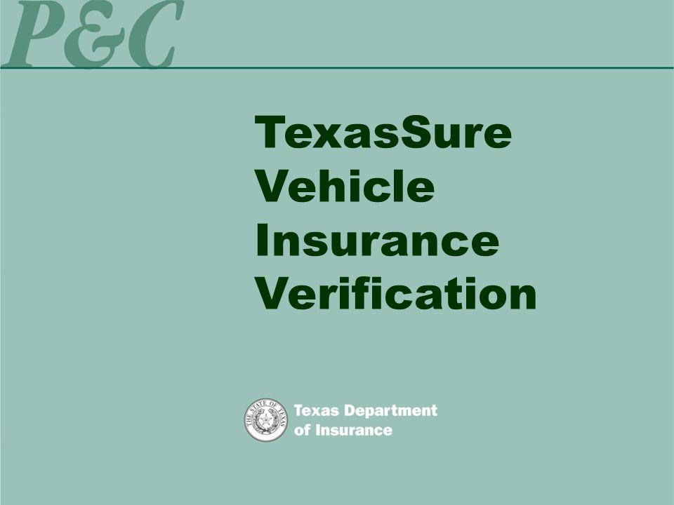 TexasSure Vehicle Insurance Verification