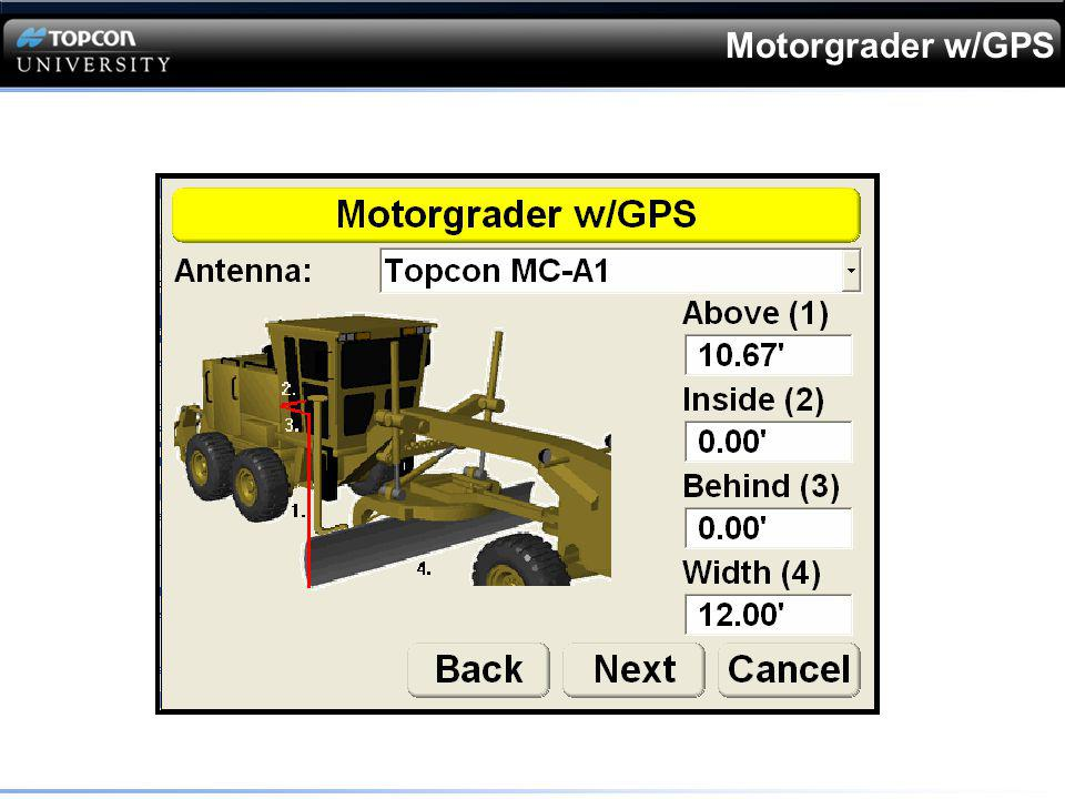Motorgrader w/GPS
