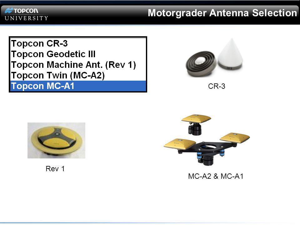 Motorgrader Antenna Selection CR-3 Rev 1 MC-A2 & MC-A1