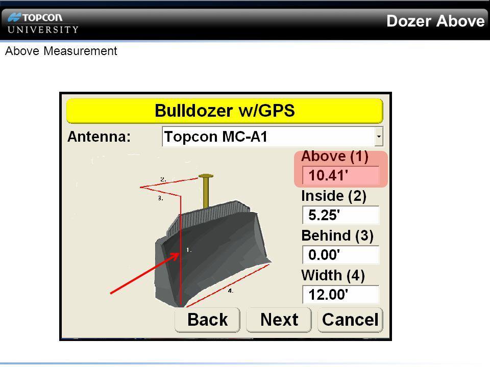 Dozer Above Above Measurement