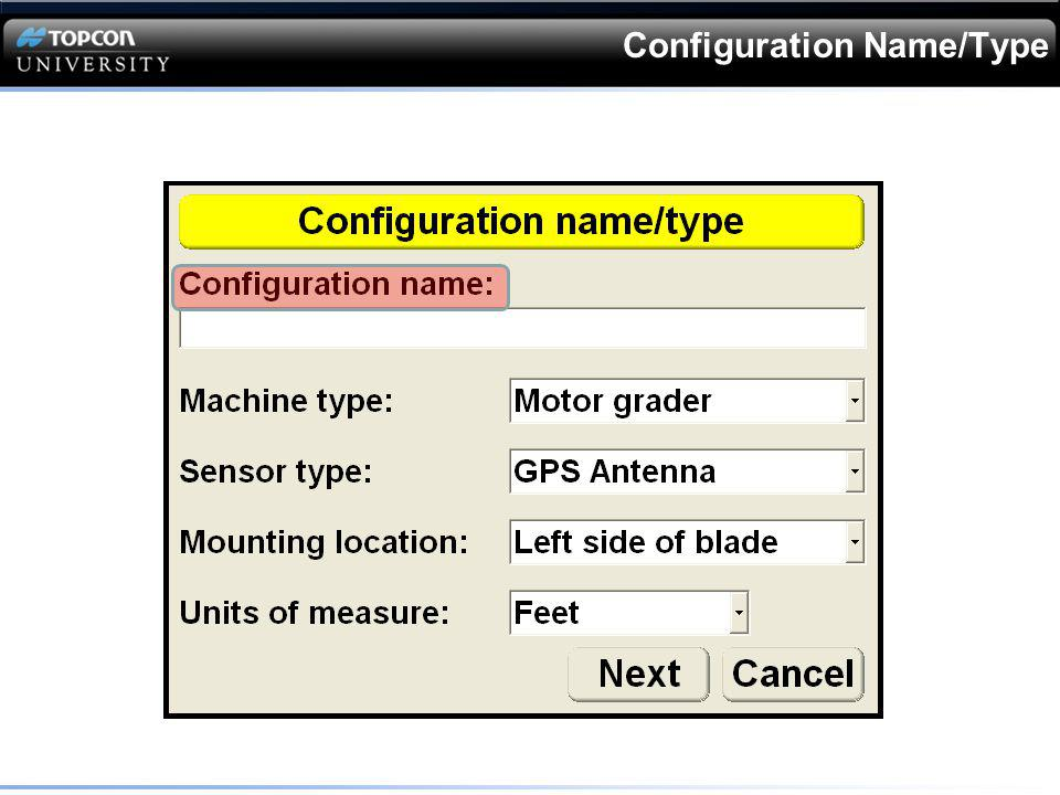 Configuration Name/Type