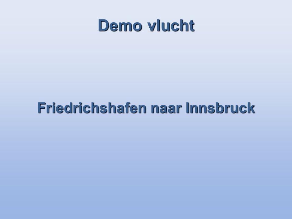 Demo vlucht Friedrichshafen naar Innsbruck