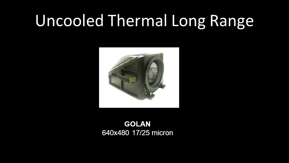Uncooled Thermal Long Range GOLAN 640x480 17/25 micron
