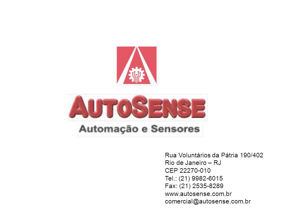 Rua Voluntários da Pátria 190/402 Rio de Janeiro – RJ CEP 22270-010 Tel.: (21) 9982-6015 Fax: (21) 2535-8289 www.autosense.com.br comercial@autosense.