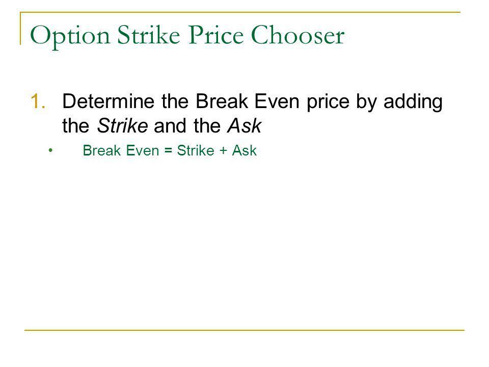 Option Strike Price Chooser Excel Updates