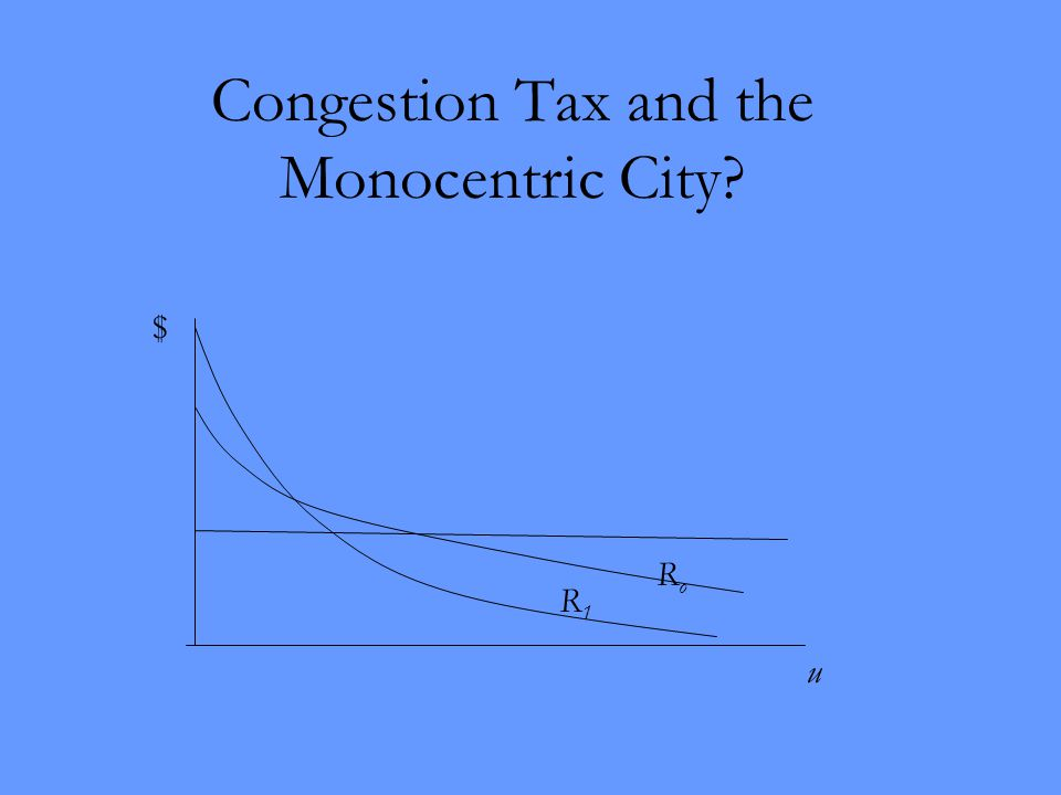 Congestion Tax and the Monocentric City u $ RoRo R1R1