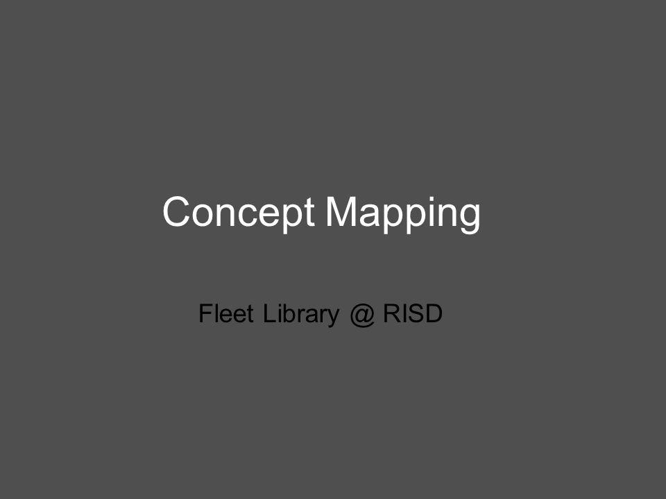 Concept Mapping Fleet Library @ RISD