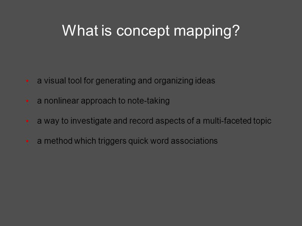 What is concept mapping.