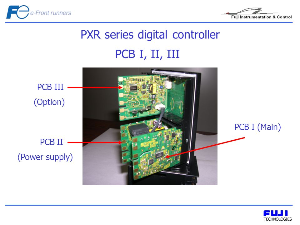 PCB I, II, III PXR series digital controller PCB I (Main) PCB III (Option) PCB II (Power supply)