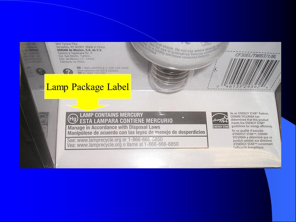 Lamp Package Label