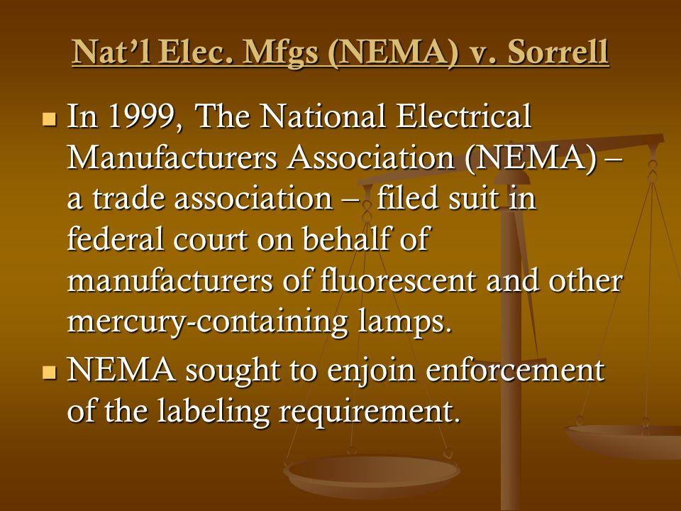 Natl Elec. Mfgs (NEMA) v.