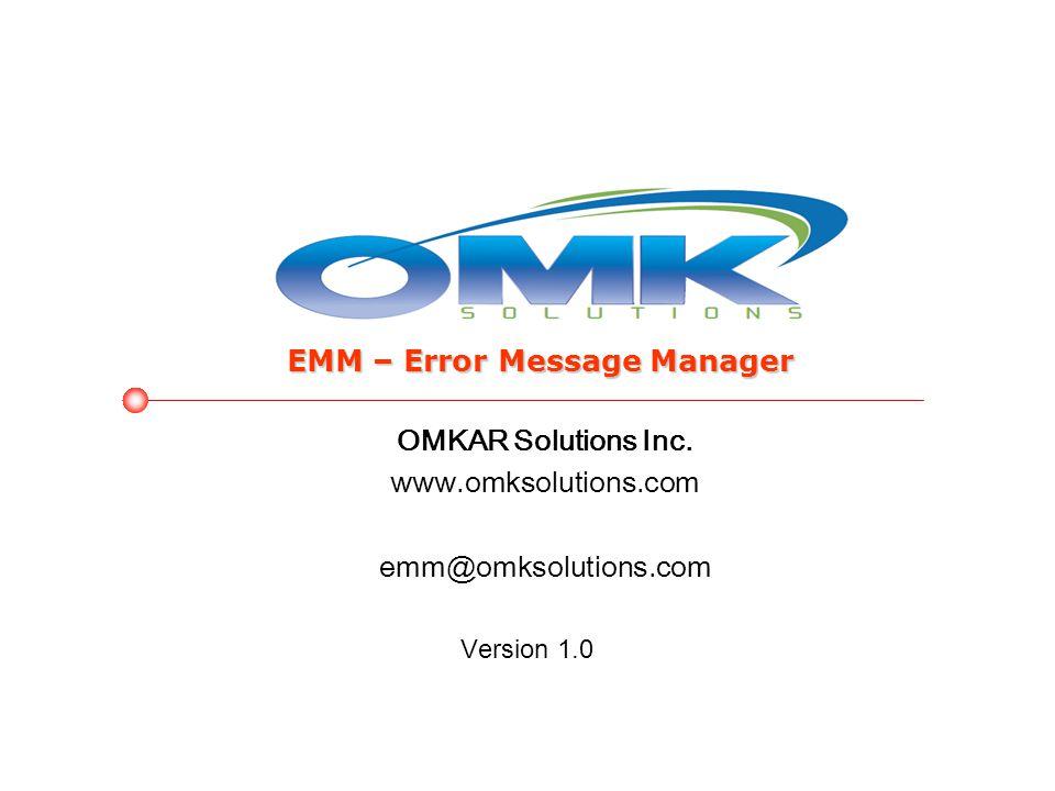 OMKAR Solutions Inc.