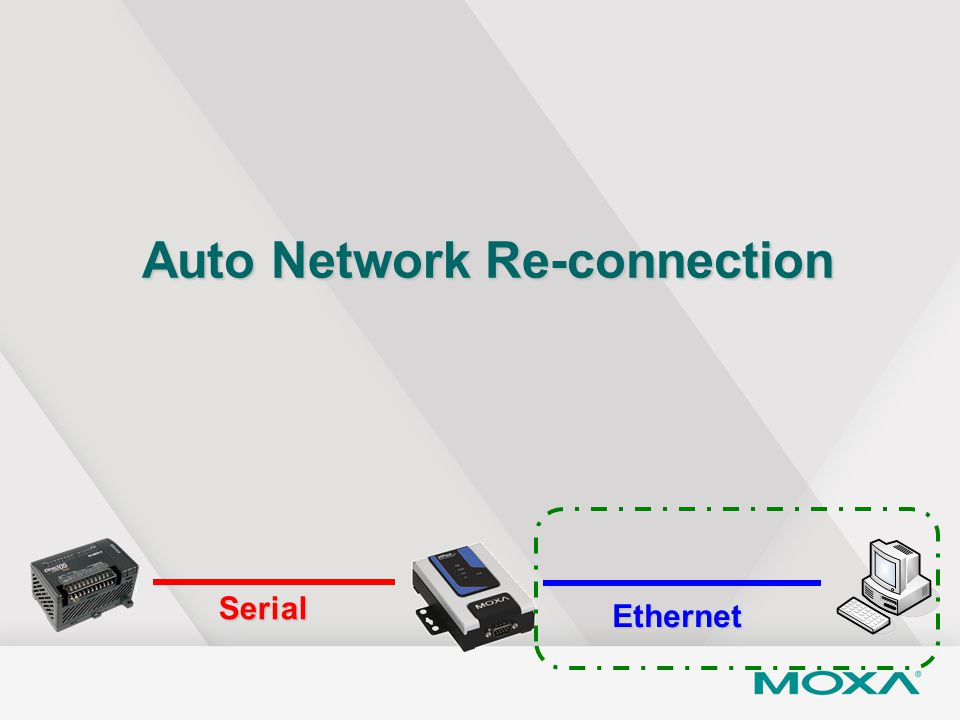 Auto Network Re-connection Serial Ethernet