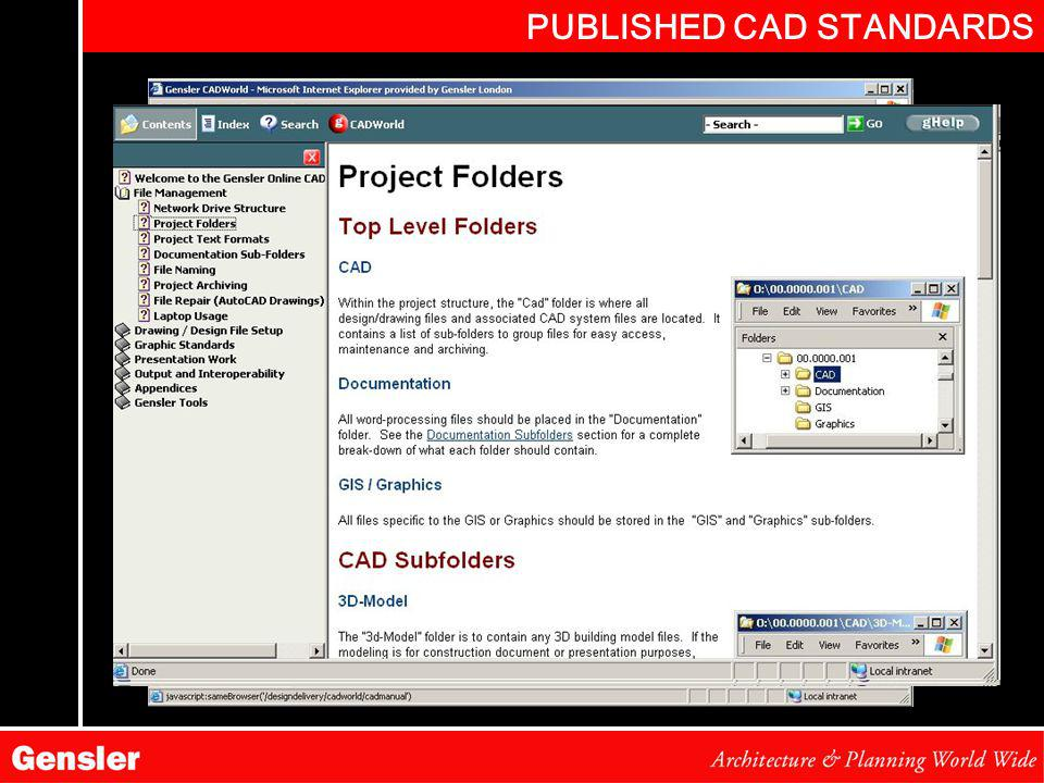 PUBLISHED CAD STANDARDS