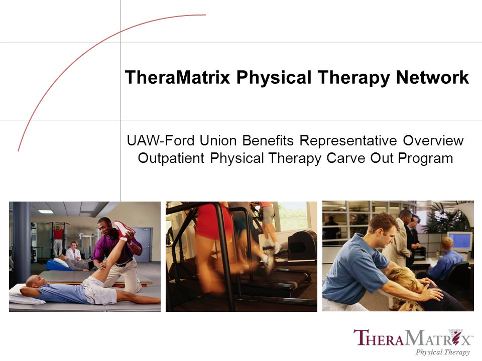 Physical Therapy 12 Are the TheraMatrix network facilities credentialed.