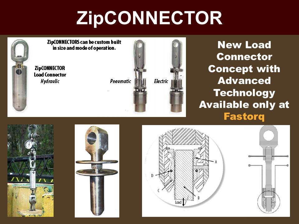 ZipCONNECTOR New Load Connector Concept with Advanced Technology Available only at Fastorq