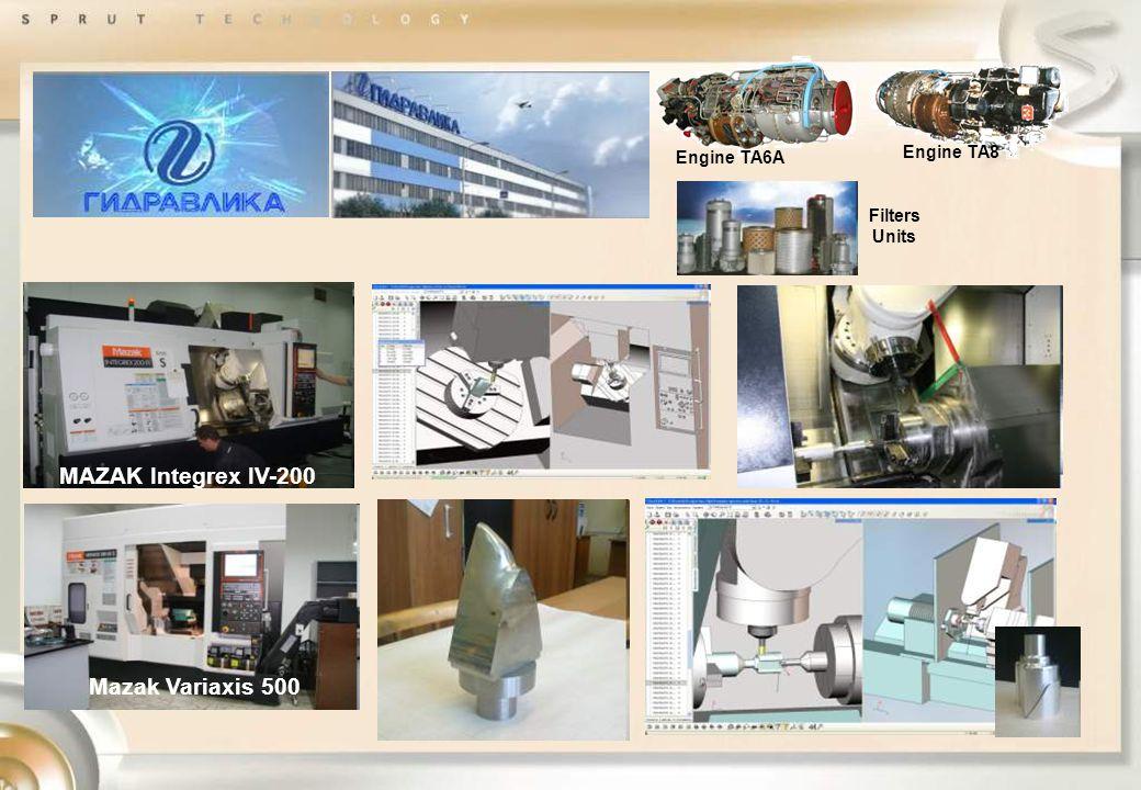Engine TA8 Engine TA6A Filters Units Mazak Variaxis 500 MAZAK Integrex IV-200