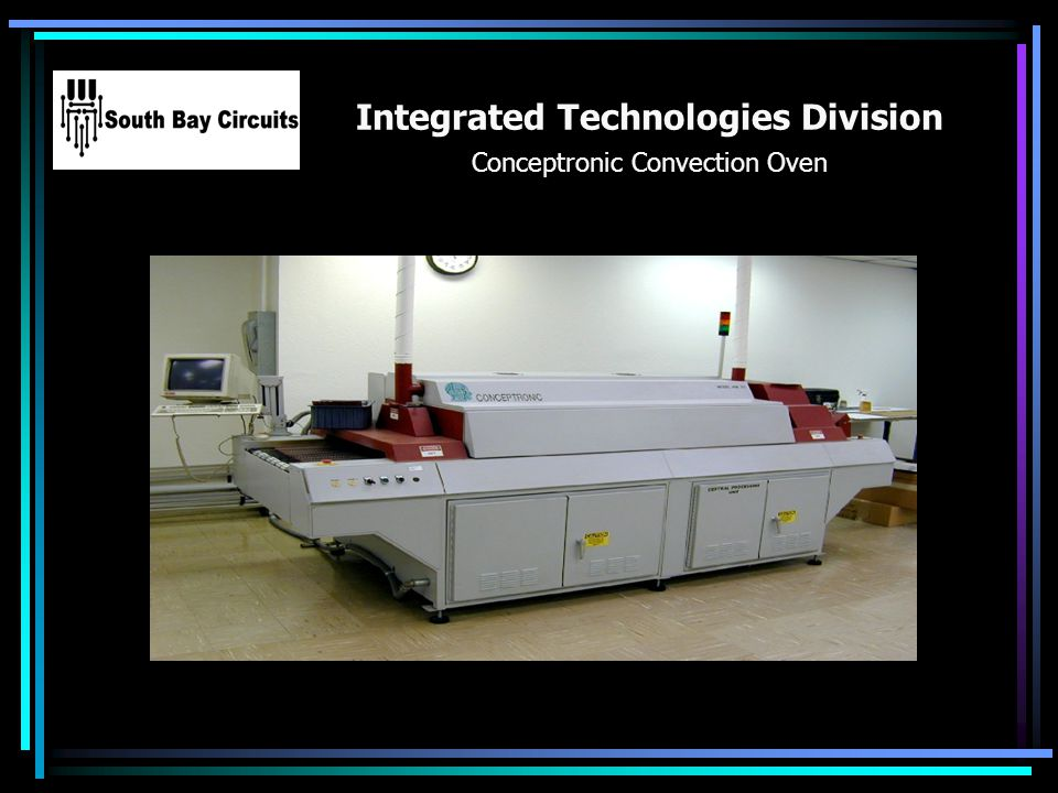 Integrated Technologies Division Conceptronic Convection Oven Your Logo Here
