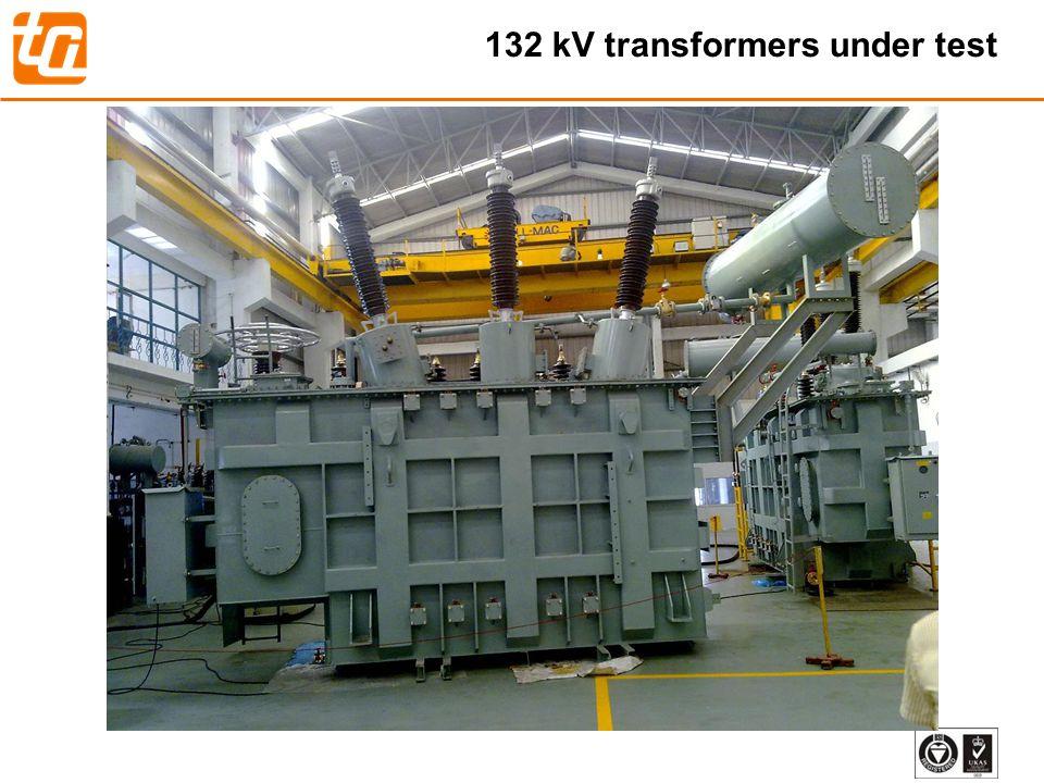 32 132 kV transformers under test