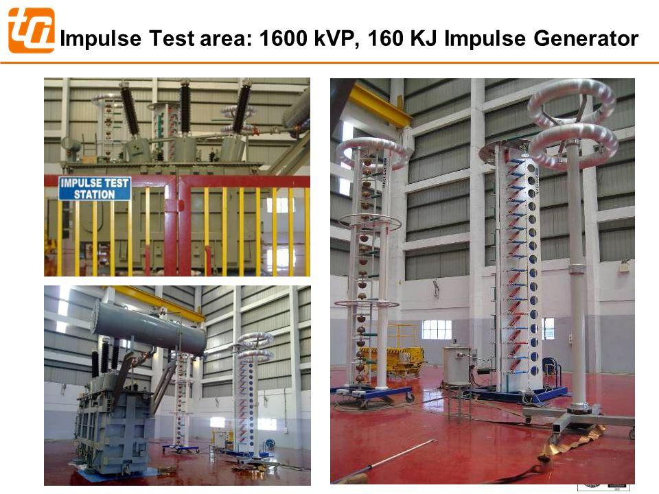 36 Impulse Test area: 1600 kVP, 160 KJ Impulse Generator