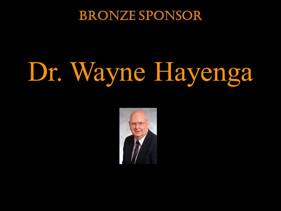 Dr. Wayne Hayenga Bronze Sponsor